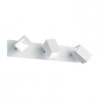 метален спот, white matt, trio, lagos, led 3x6w, 3000k, 3x550lm, 827890331