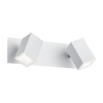 метален спот, white matt, trio, lagos, led 2x6w, 3000k, 2x550lm, 827890231