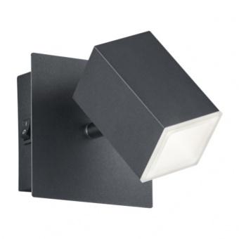 метален спот, black matt, trio, lagos, led 1x8w, 3000k, 1x730lm, 827890132