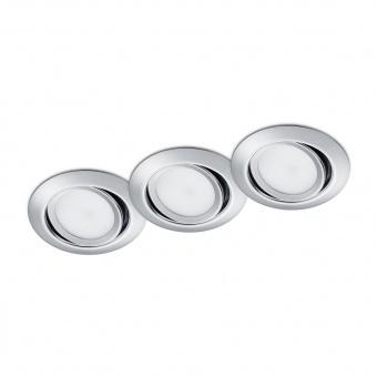метална луна, chrome, trio, rila, led 3x5w, 3000k, 3x370lm, 650310306