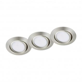 метална луна, nickel matt, trio, rila, led 3x5w, 3000k, 3x370lm, 650310307