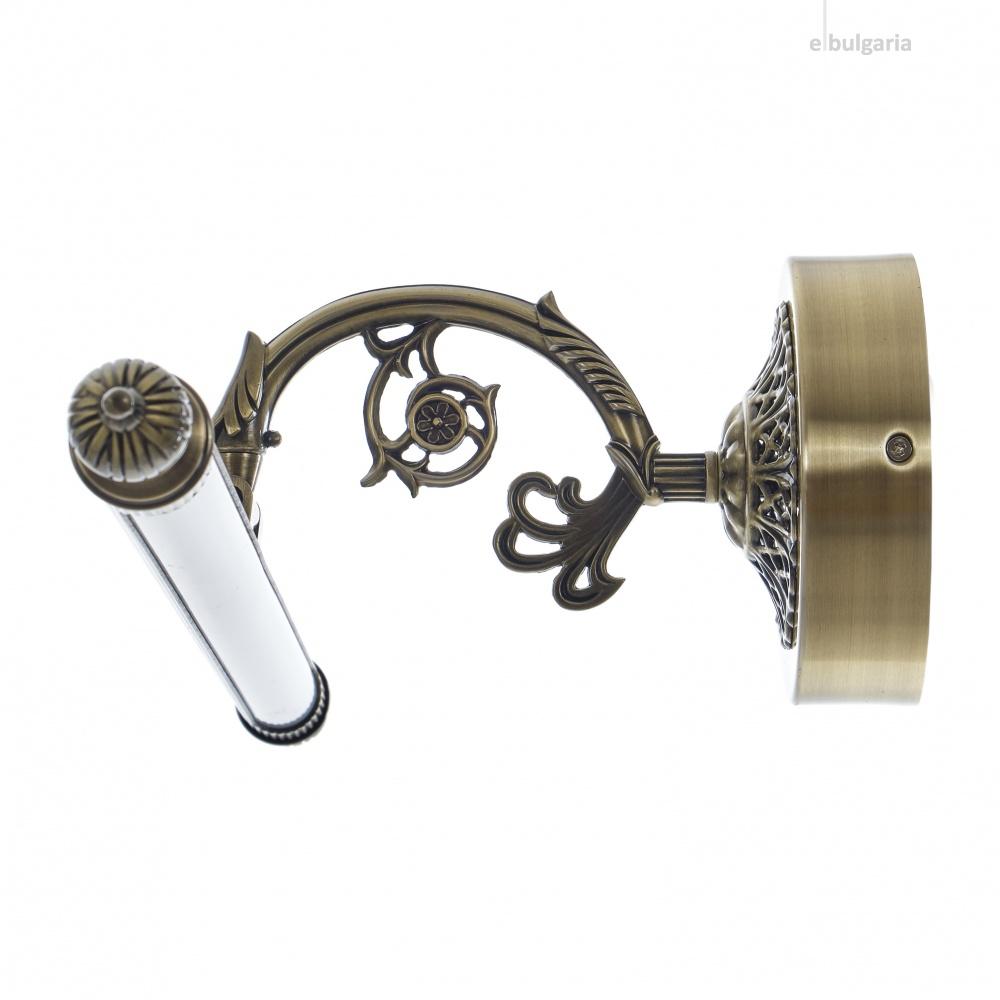 метален  аплик, бронз, elbulgaria, led 12w, 4000k, 1844
