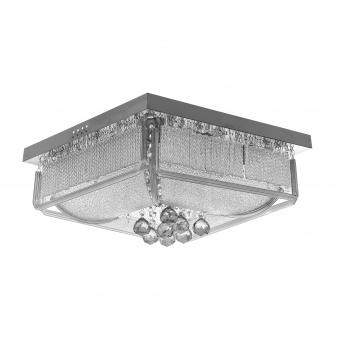 кристален плафон, хром, elbulgaria, 8x40w+ led rgb, 1830/50 ch