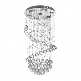 кристален полилей, хром, elbulgaria, led 35w, 3000k-4000k-6500k, 1782 ch