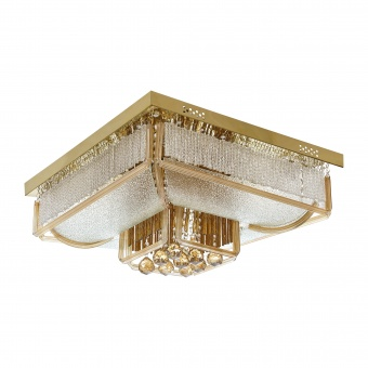 кристален плафон, злато, elbulgaria, 21x40w+led rgb, 1830/80 gd