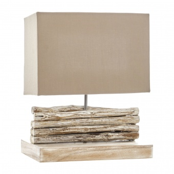 настолна лампа от дърво, бял, elbulgaria, 1x40w, eli 12/light br