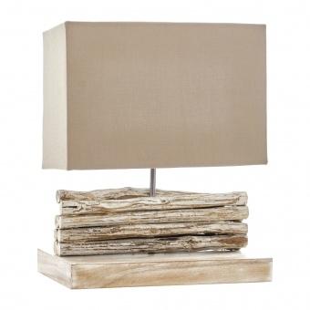 настолна лампа от дърво, бежов , elbulgaria, 1x40w, eli 12/light br