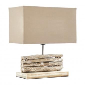 настолна лампа от дърво, бежов, elbulgaria, 1x40w, eli 13/light br