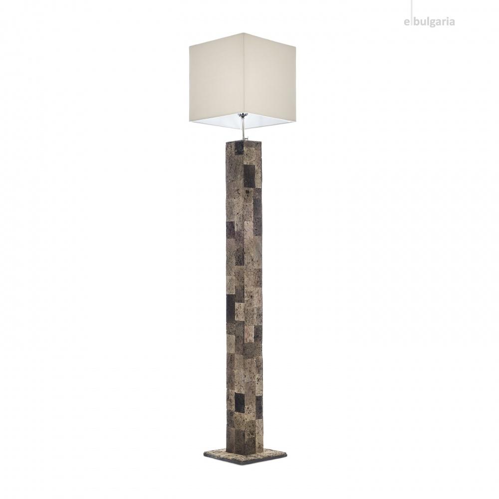 лампион от камък, кафяв, elbulgaria, 1x40w, eli 1f/10
