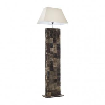 лампион от камък, кафяв, elbulgaria, 1x40w, eli 1f/25