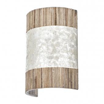 аплик от седеф и дърво, бял, elbulgaria, 1x40w, eli 33/1w wh