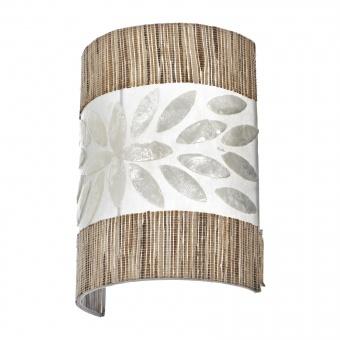 аплик от седеф и дърво, бял, elbulgaria, 1x40w, eli 36/1w wh