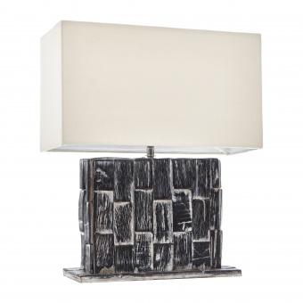 настолна лампа от камък, кафява, elbulgaria, 1x40w, eli 40t br