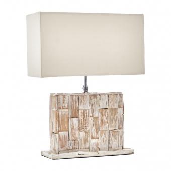настолна лампа от камък, бяла, elbulgaria, 1x40w, eli 40t wh