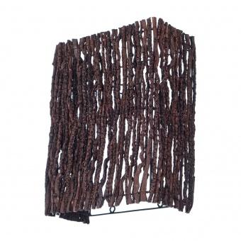 аплик от дърво, кафяв, elbulgaria, 1x40w, eli 45/1w br