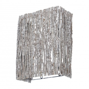 аплик от дърво, бял, elbulgaria, 1x40w, eli 45/1w wh