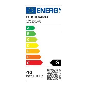 pvc плафон, бял, elbulgaria, led 40w, 3000-4000-6000k, 1712/14 r