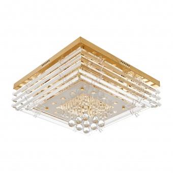 кристален плафон, злато, elbulgaria, 10x40w+led rgb, 1742/10 gd
