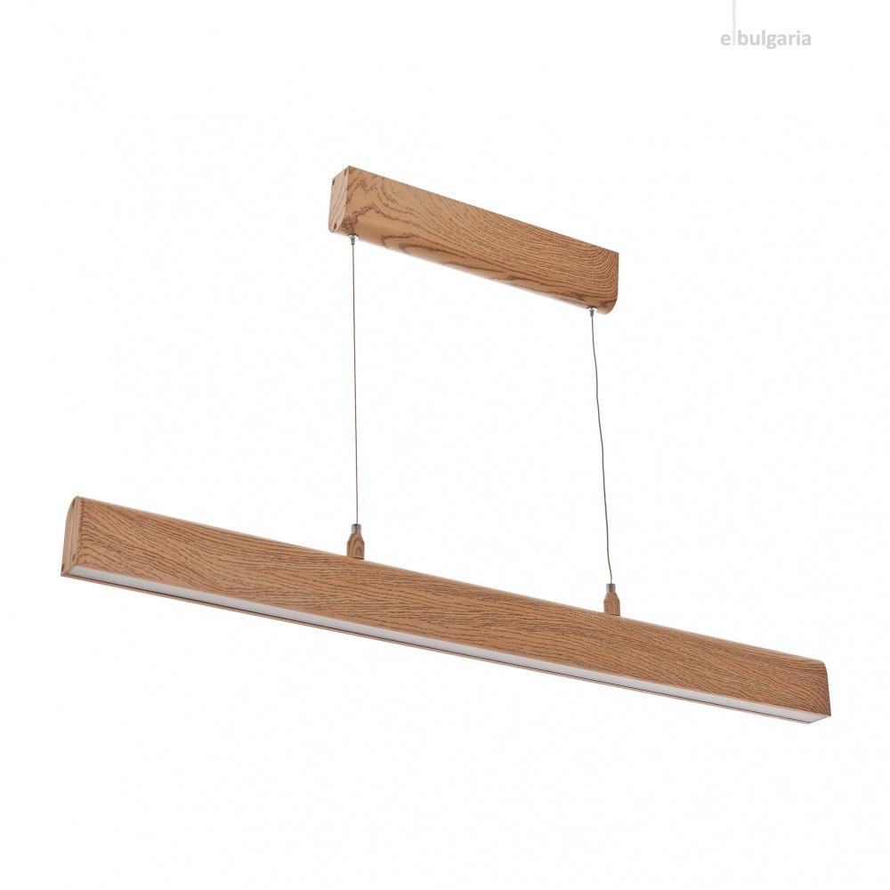 метален полилей, кафяв, elbulgaria, led 48w, 4000k, 1858/48w wood