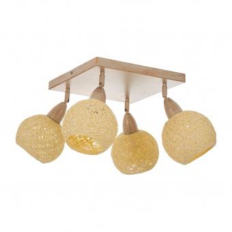 спот от ратан, антично злато, elbulgaria, 4x40w, 1820/4 bgd