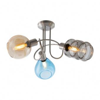 стъклен полилей, nickel matt, nino, pesaro, 3x40w, 60580301