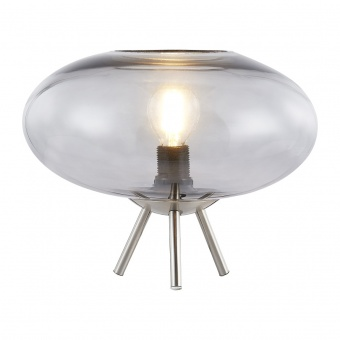 стъклена настолна лампа, smokey, nino, lille, 1x40w, 50040102