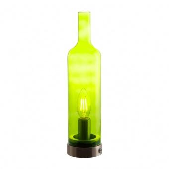 стъклена настолна лампа, green, nino, bottle, 1x40w, 50090114