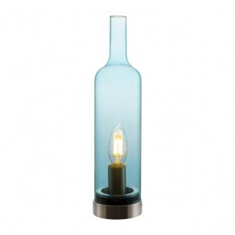 стъклена настолна лампа, blue, nino, bottle, 1x40w, 50090116