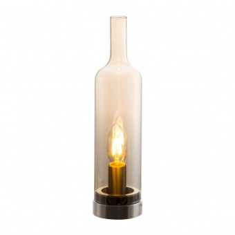 стъклена настолна лампа, amber colored, nino, bottle, 1x40w, 50090123