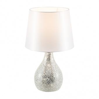 керамична настолна лампа, silver colored, nino, susa, 1x40w, 51070102