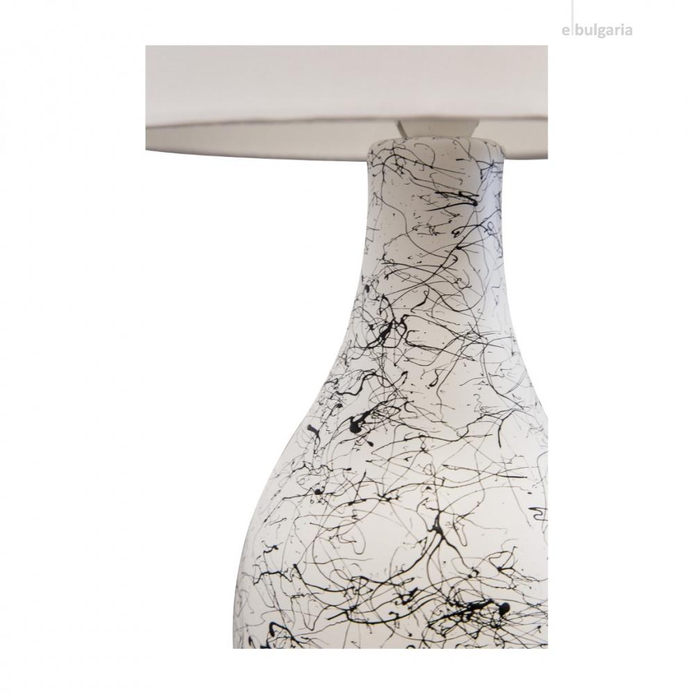 керамична настолна лампа, white, nino, sammy, 1x40w, 50830107
