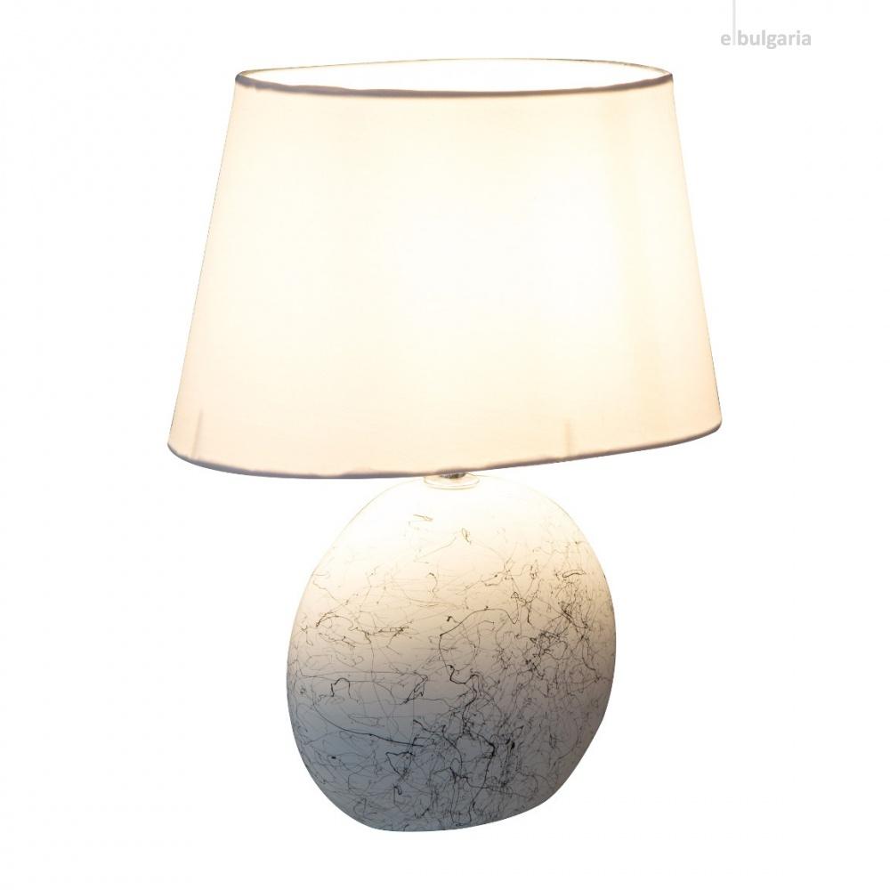 керамична настолна лампа, white, nino, sammy, 1x40w, 50890107