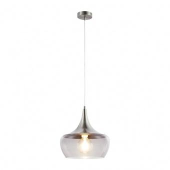 стъклен пендел, nickel matt/smokey colored, nino, arola, 1x40w, 30423006