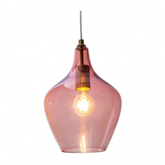 стъклен пендел, nickel matt/pink, nino, paso, 1x40w, 30620121