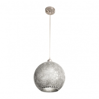 стъклен пендел, silver colored, nino, amalfi, 1x40w, 31013044
