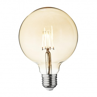 led лампа 6w, e27, топла светлина, led vintage, 3000k, 590lm, 3962