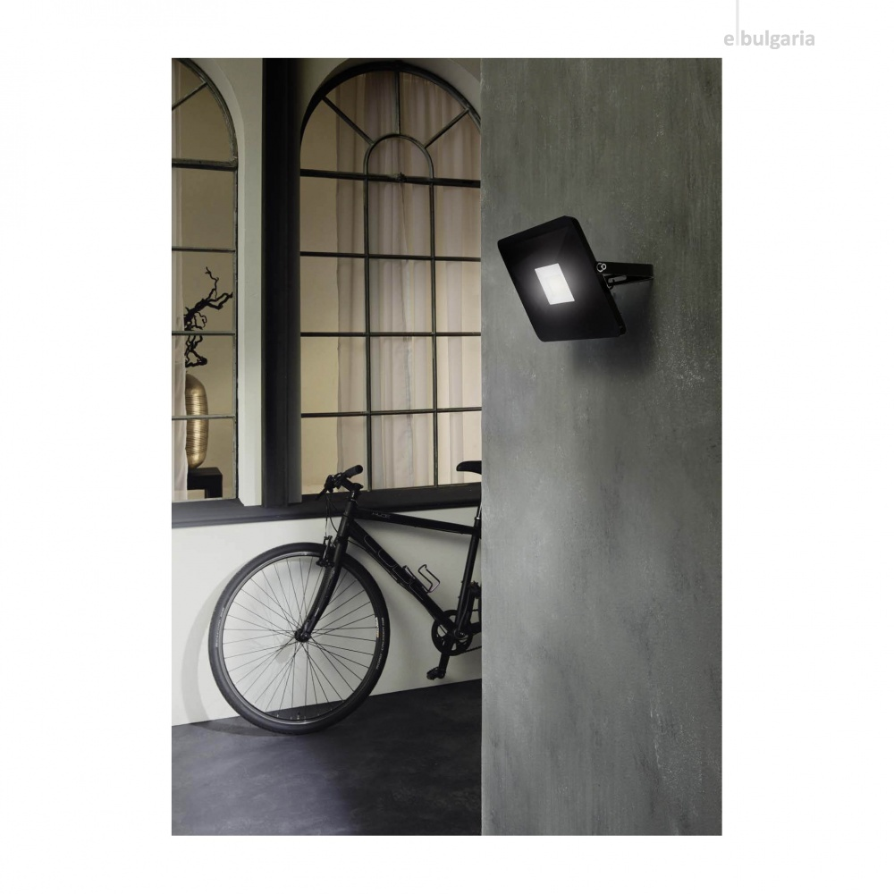 метален прожектор, black, eglo, faedo 3, led 10w, 4000k, 900lm, 97455