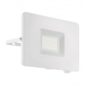 метален прожектор, white, eglo, faedo 3, led 50w, 4000k, 4800lm, 33155