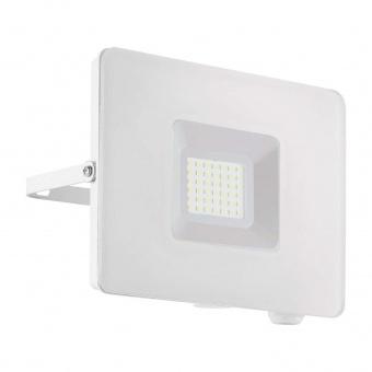 метален прожектор, white, eglo, faedo 3, led 30w, 4000k, 2750lm, 33154