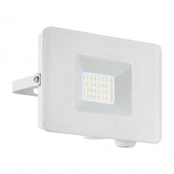 метален прожектор, white, eglo, faedo 3, led 20w, 4000k, 1800lm, 33153