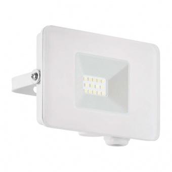 метален прожектор, white, eglo, faedo 3, led 10w, 4000k, 900lm, 33152