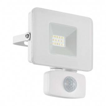 метален прожектор, white, eglo, faedo 3, led 10w, 4000k, 900lm, 33156