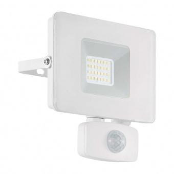 метален прожектор, white, eglo, faedo 3, led 20w, 4000k, 1800lm, 33157