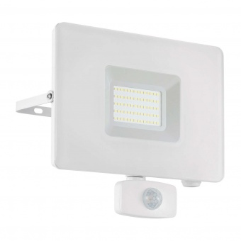метален прожектор, white, eglo, faedo 3, led 50w, 4000k, 4800lm, 33159
