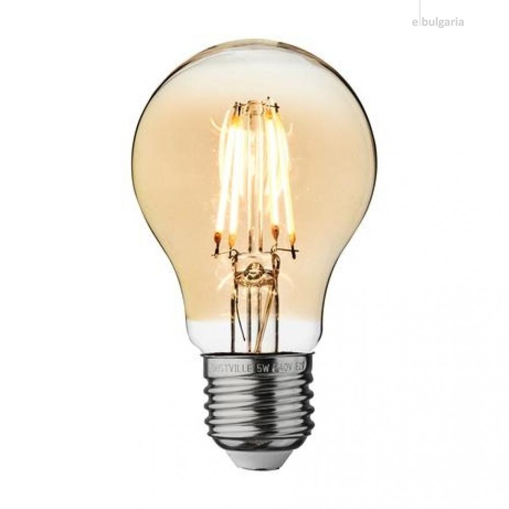 led лампа 4w, vivalux, е27, топла светлина, 2700k, 400lm, 004086