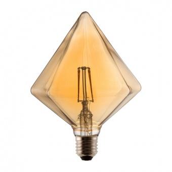 led лампа, 6w, e27, топла светлина, diamond gold, 2700k, 540lm, 0010350006