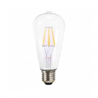 димируема led лампа 4w, e27, топла светлина, 2700k, 490lm, 7414