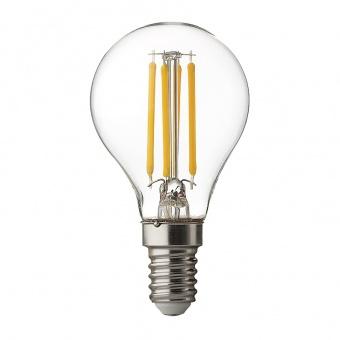 димируема led лампа 4w, e14, filament, бяла светлина, ultralux, 4200k, 400lm, lfg41442d