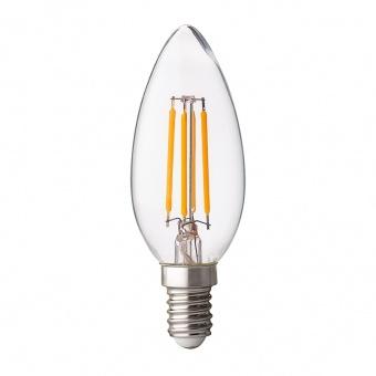 димираща led лампа 4w, e14, бяла светлина, filament, ultralux, 4200k, 400lm, lfc41442d