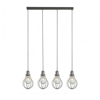 метален полилей, pewter colour, searchlight, balloon cage, 4x40w, 1384-4pw